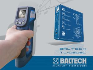 Пирометр до 1000 градусов, измерение температуры, контроль температуры, BALTECH TL-0208C