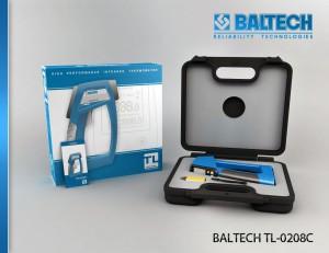 Измерение температуры, пирометр BALTECH TL-0208C, диагностика электрооборудования
